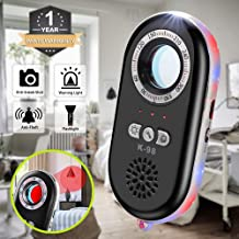 Anti-Spy Hidden Camera Detector Infrared Portable Safesound Personal Alarm 3-in-1 Functionality Defense Emergency Alert with Mini LED Flashlight for Home Hotel Travel Suitcase Security Box (Black)