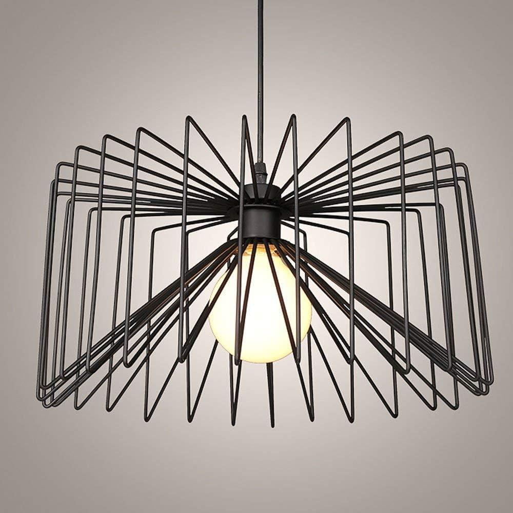 Xajgw  lampadario in diamanti vintage con paralume in ferro battuto
