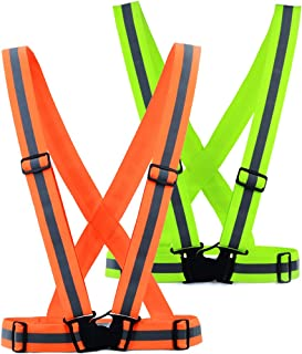 DREAM BEAR360°High Visibility Elastic Reflective Vest (2-pack),Reflective Running Vest, Cycling, Motorcycle ,and Hight Recommendation Put in Your Car for Safe Disposal of Accident.