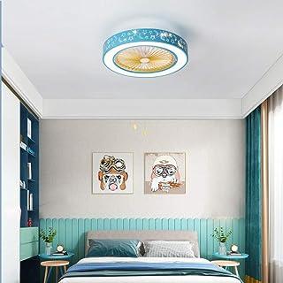 Lámpara de dormitorio, lámpara de ventilador, lámpara de techo led, lámpara de ventilador de techo invisible, lámpara de restaurante, lámpara de estudio de control remoto-C