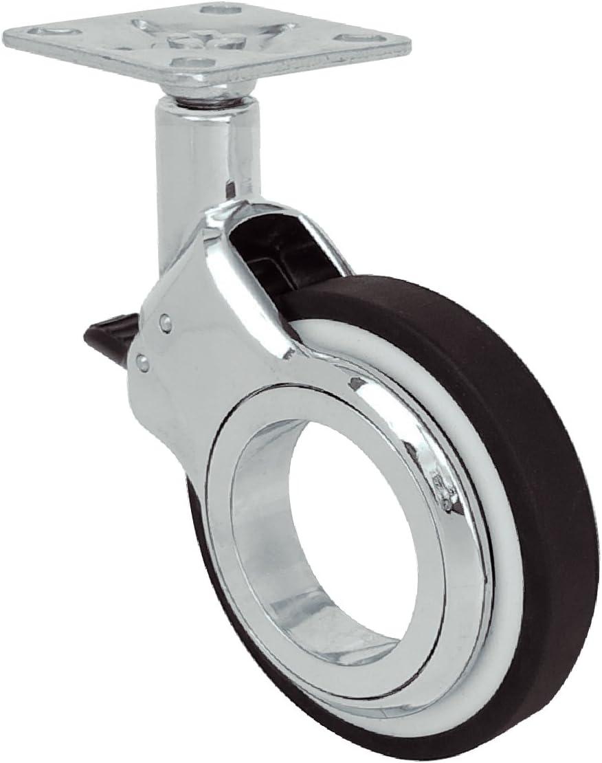mit Montageplatte und Schrauben im Lieferumfang enthalten QC-KOOEVO75R22P M/öbelrollen 2 mit Bremse und 2 ohne Bremse Rot Durchmesser 75 mm