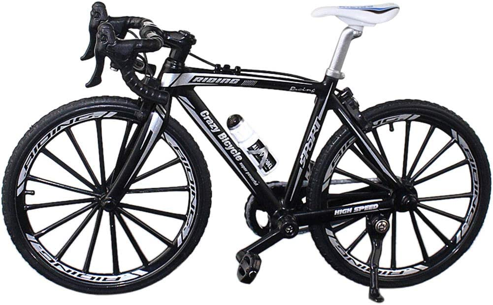 bicicletta da corsa giocattolo per collezione Decor HONUTIGE modello 1:10 mountain bike simulare il modello in miniatura di mountain bike modello retr/ò MIni in metallo pressofuso modello