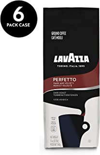 Lavazza Perfetto Ground Coffee Blend, Medium Espresso Roast, 12-Ounce Bags (Pack of 6)