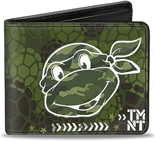 Men's Wallet Classic Turtle Face Close-up Outline/tmnt Turtle Shel Accessory, -Multi, One Size