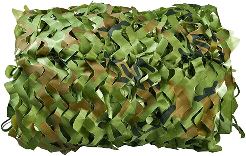 Filet de camouflage militaire, filet de camouflage de l'armée Woodland en tissu Oxford pour chasse, camping, filet de prougeection solaire, filet de chasse, store léger 6x6m
