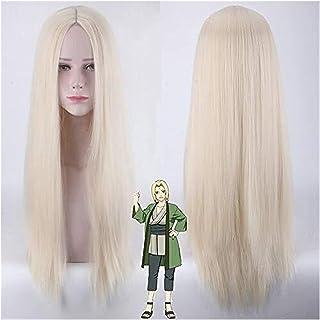 YYCHER Naruto Shippuden Fifth Hokage Tsunade Cosplay Wig Long Straight Blond Hair Peluca Anime Costume Wigs (Color : Tsuna...