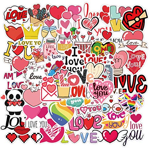 HUNSHA 50 Aufkleber zum Valentinstag, rosa, für Gepäck, Motorrad, Trolley, Notebook, wasserdichte Aufkleber