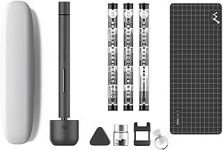 Precisionsskruvmejselsats, KKmoon mini elektrisk skruvmejsel-kit sladdlös elskruvmejselsats med LED-ljus
