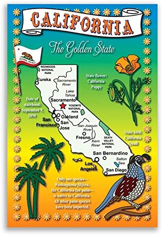 CALIFORNIA STATE MAP postcard set of identical Super popular specialty store New products world's highest quality popular 20 postcards. Pos