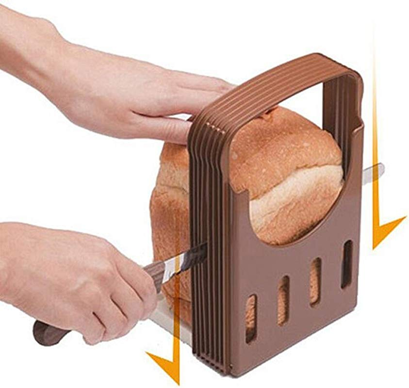 Generic Compact And Foldable Kitchen Baking Bread Loaf Slicer Cutter Cutting Cuts