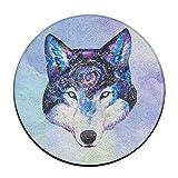 Universo Galaxy lobo antideslizante alfombrillas Circular alfombra alfombrillas comedor...
