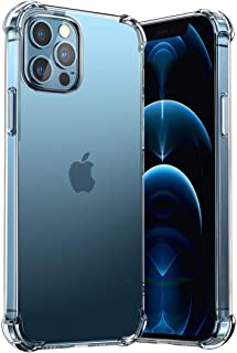 T Tersely Clear Case Cover for Apple iPhone 12 Pro Max(6.7 inch), Air Hybrid Slim Fit Shockproof Crystal TPU Bumper Protec...