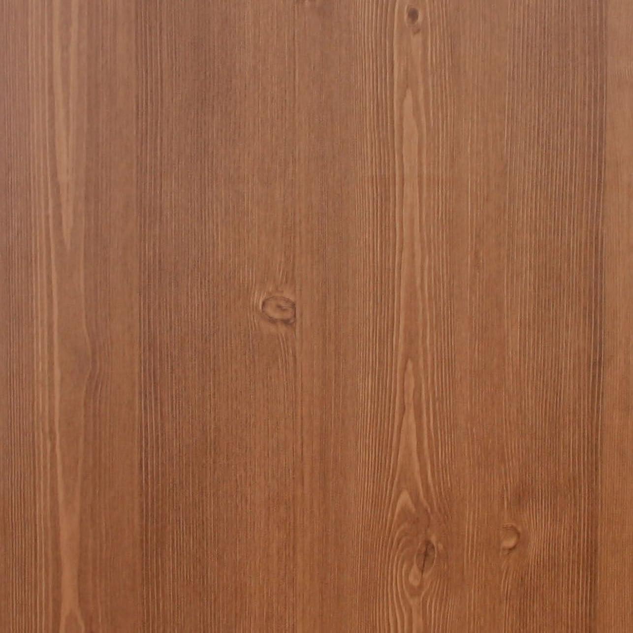 幾何学アプトベギンケイ?ララ 壁紙シール 木目 はがせる クロス のり付き おしゃれ [nw-023:ブラウン] 幅100cm×長さ1m単位 ウォールステッカー DIY 壁紙 シール リメイクシート
