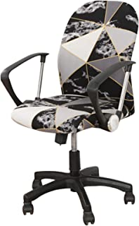 Facai - Funda de silla de ordenador elástica, funda de protección para silla giratoria universal, funda de silla de oficina extraíble, funda de silla estampada #9