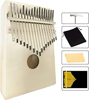 Luvay Kalimba 17 key Thumb Piano, Solid Mahogany Body