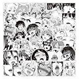 52pcs Ahegao Sexy Girl Vinyls Stickers Laptop Sticker Waterproof Stickers Luggage Skateboard Water Bottle Stickers Decal Bicycle Bumper Snowboard Decorate Gift