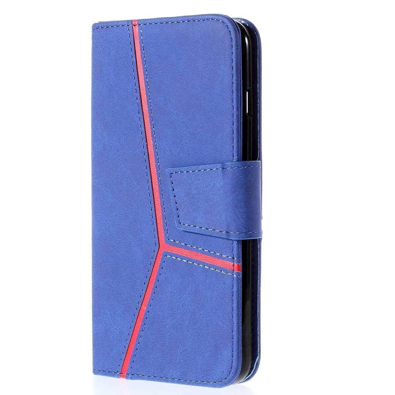 ディベートビートアンドリューハリディCUSKING Huawei P20 Pro 対応 ケース, 高級 手帳型 PUレザー ケース, Huawei P20 Pro 衝撃吸収 保護ケース 財布型 ケース スタンド機能 カード ポケット 付き, ブルー