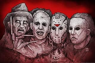 Mt. Slashmore by Big Chris Horror Movie Cool Wall Decor Art Print Poster 36x24