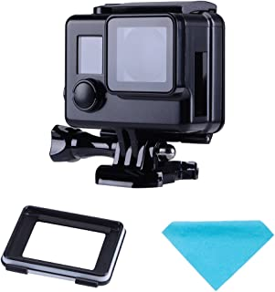 Suptig Protective case Black Charging case Wire Connectable Skeleton Protective Side Open Housing case for GoPro Hero 4 Hero 3+ Hero 3 Camera