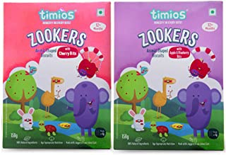 Timios Zookers Mix Flavours | Kids Snacks | Baby Snacks for 12+ Months | Nutritious & 100% Natural Animal Shaped Biscuit |...
