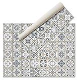 Alfombra Vinílica - (160x120 Hidráulica) - Distintos diseños y tamaños - Alfombra Cocina- Alfombra baño - Alfombra Salón Comedor Antideslizante - Alfombra Dormitorio - Goma esponjosa y Suelo PVC
