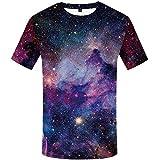 KYKU Galaxy T Shirt Universe T-Shirt Space T Shirts for Men Nebula Tshirts...