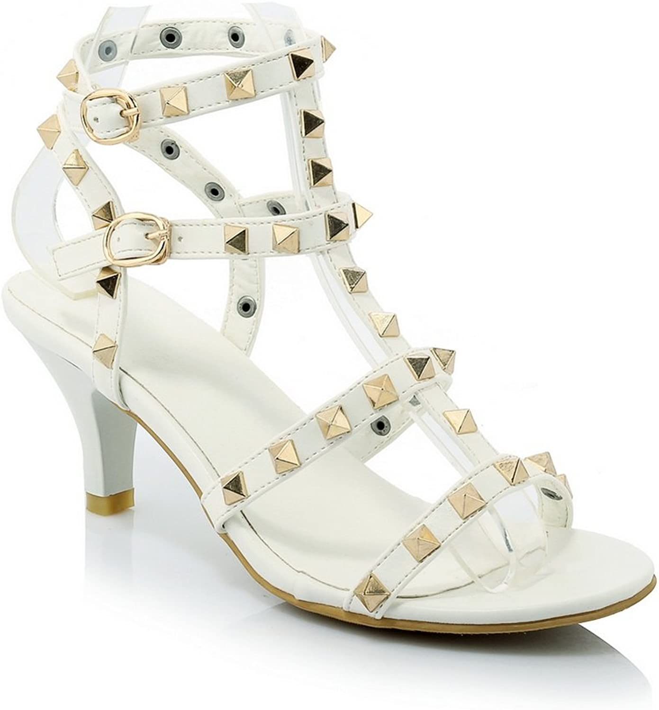 AdeeSu Ladies Studded Open-Toe Polyurethane Sandals