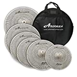 Arborea MU Series Silver Color Low Volume Mute Quite Silent Cymbal Set...