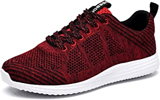 d9321fcaf311f8 TIOSEBON Mens Lightweight Athletic Walking Casual Sneakers Lace-Up Running  Sports Shoes