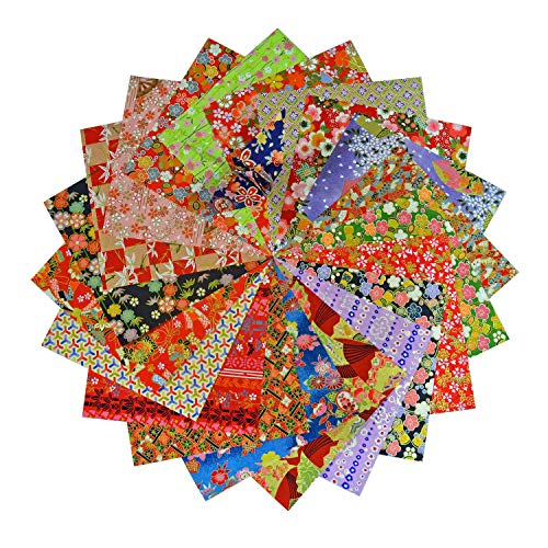 Yuzen Washi Origami Paper 15x15cm Japanese Chiyogami Assortment (60 Sheets)