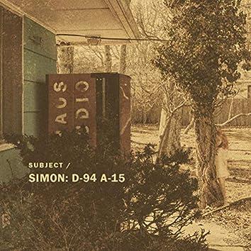 Subject : Simon D-94 A-15