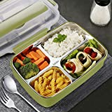 Zoom IMG-1 slim stainless steel square lunch