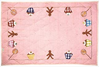 Win Green LGCFQ Gingerbread Cottage Floor Quilt44; Large