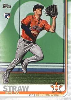 2019 Topps #629 Myles Straw Houston Astros Rookie Baseball Card