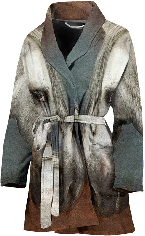 Deruj Andalusian Horse Art Print Women's Bath Robe