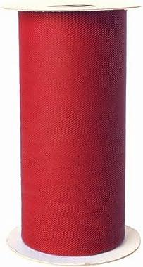 Falk Fabrics Apparel Grade Tulle Spool, Autumn Red