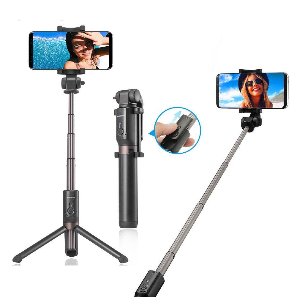Tripode Bluetooth para Selfie, RIVERSONG Selfie Stick con Tripodes ...