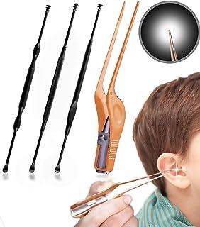 [Isdy] 耳かき ピンセット みみかき 耳掃除 耳掻き イヤークリーナー 子供用 ライト 極細 先薄