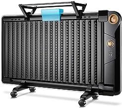 HXCD Versión mecánica Negra Calentador de radiador Lleno de Aceite Mini termostato de habitación eléctrico portátil 1800W