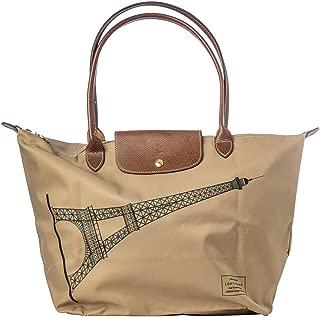 Longchamp Beige Tour Eiffel Purse Large Bag New