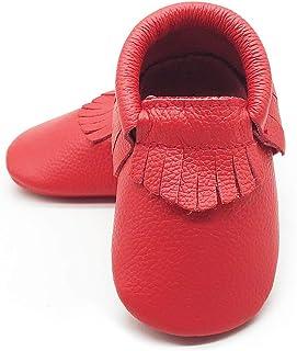 80bcb423e3e4 Owlowla Baby Soft Sole Leather Crib Shoes Infant Toddler Pre-Walker Shoes  Boy Girl