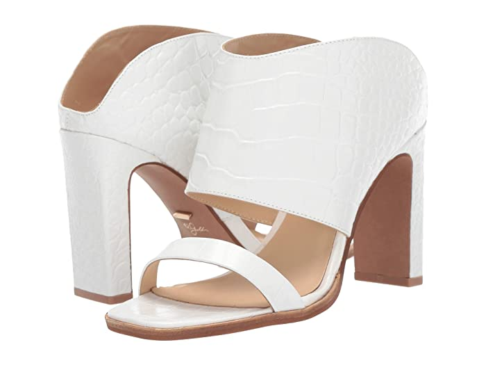 42 GOLD  Linx (White Croco Leather) Womens Sandals