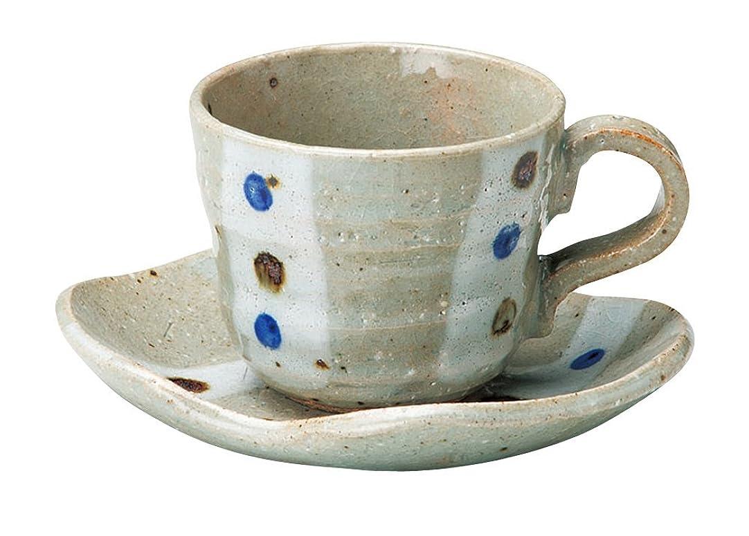 包帯並外れて女王宗峰窯 コーヒーカップ ひさご型 玉紋 カップアンドソーサー カップ:φ8×6.5cm(180cc) ソーサー:13×12×2.5cm 750-47-463