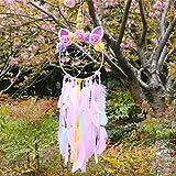 Atrapasueños Nicole Knupfer Boho Deko, hecho a mano, atrapasueños, plumas, habitaciones, dormitorio, romántico regalo (rosa)