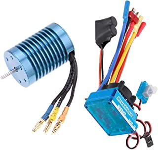 GoolRC 3650 4370KV 4P Sensorless Brushless Motor 45A Brushless ESC(Electric Speed Controller) 1/10 RC Off-Road Car