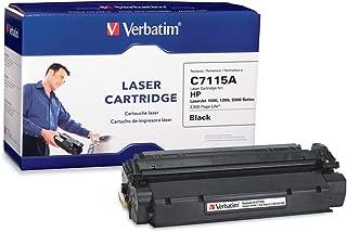 Verbatim Remanufactured Toner Cartridge Replacement for HP C7115A (Black)