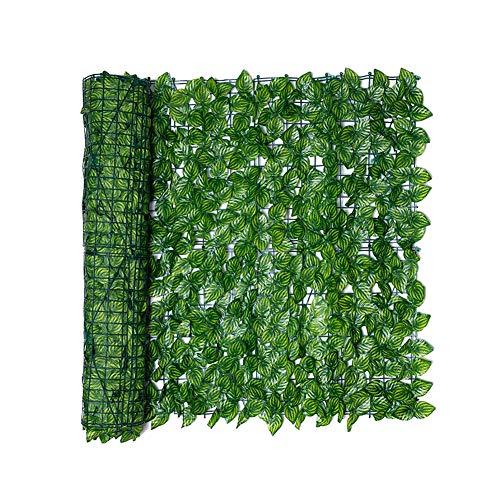 Jorzer Blatt Zaun Panels Artificial Blatt Spalierhecke Privatsphäre Zaun Rolle Wand Watermelon Blatt Landschaftsbau Im Freien Garten-hinterhof Balkon 0.5x1m