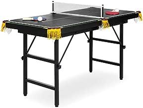 Pooltana Portable Folding Mini Kids 2 in 1 Ping Pong Billiards Pool Table Set Arcade Game Tennis Kid