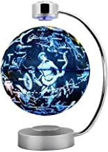 """SLEVE Magnetic Levitation Floating Globe, 6"""" Anti-Gravity World Map Constellation Spinning Ball with Touch Control LED Light, Creative Cool Desk Decoration"""