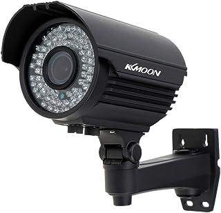 KKmoon Camara Bala de Vigilancia (1200TVL CCTV 1/3 CMOS 72 IR LED IR-Cut 2.8-12mm Zoom Varifocal Vision Nocturna IP66 Impermeable Interior/Exterior Señal PAL) Sistema Seguridad
